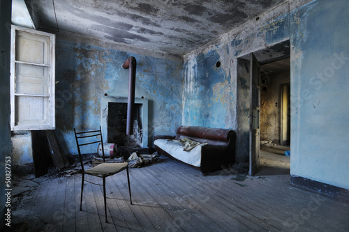 Poster Ruine Old abandoned room