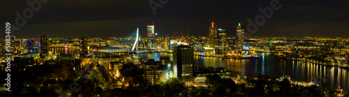 Deurstickers Rotterdam rotterdam at night