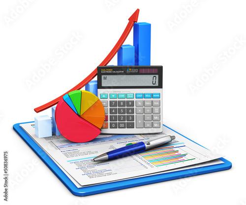 Fotografía  Finance and accounting concept
