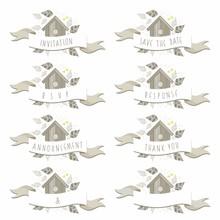 Napisy ślubne Budka Dla Ptaków Wśród Liści