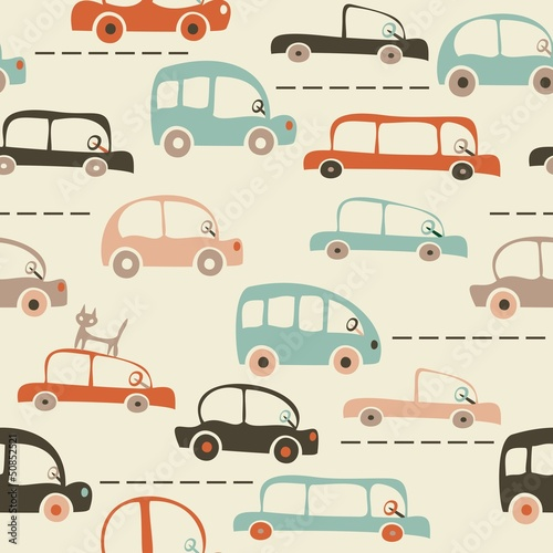 bez-szwu-kreskowka-mapa-samochodow-i-ruchu