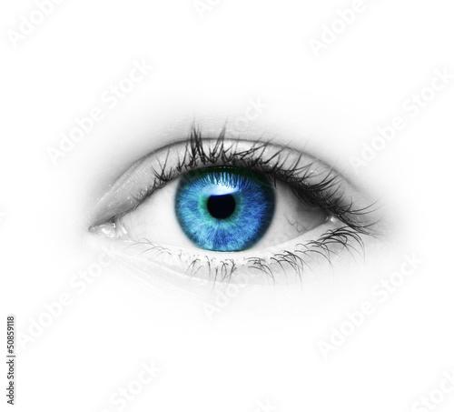 Foto op Aluminium Iris Auge
