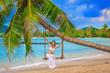 beautiful girl on a tropical beach
