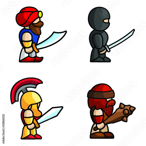 Door stickers Superheroes Historical battle characters