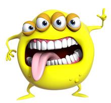 3d Cartoon Yellow Monster