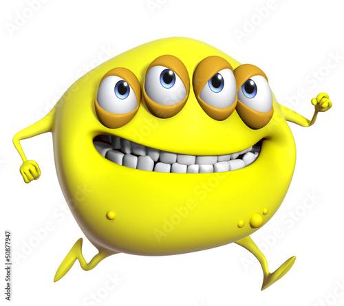 Garden Poster Sweet Monsters 3d cartoon yellow monster