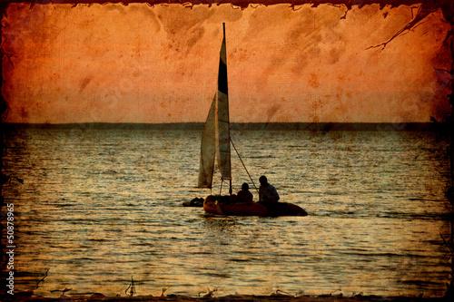 Papiers peints Affiche vintage Retroplakat - Segelboot
