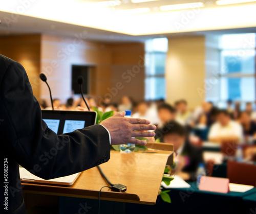 Fotografía  making a speech