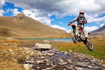 motocross in alta montagna