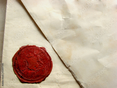 Photo letter with seal