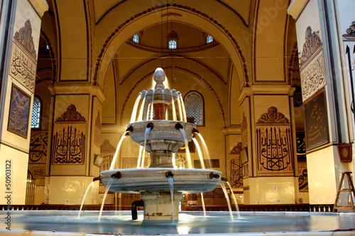Fényképezés  Bursa Grand Mosque fountain in