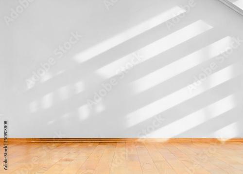 fototapeta na szkło Empty room with sun light shadows