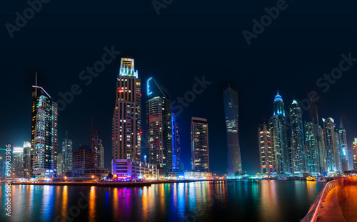 Fototapety, obrazy: Dubai Skyline by night
