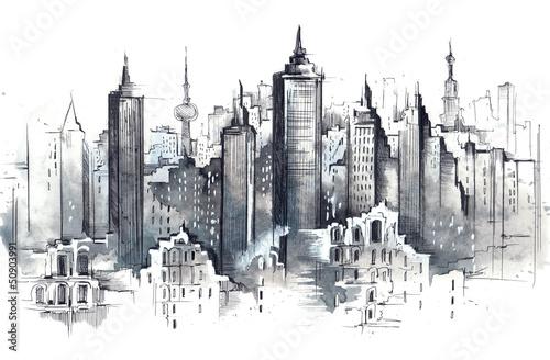 Nowoczesny obraz na płótnie architecture