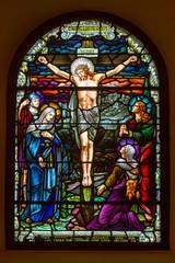 Fototapeta Witraże sakralne Crucifixion