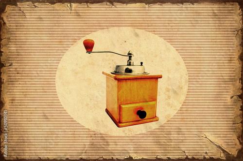 Foto op Plexiglas Vintage Poster Retroplakat - Kaffeemühle
