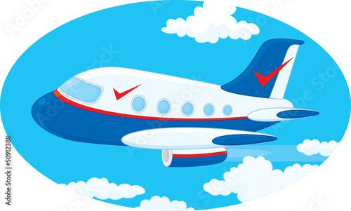 Fotobehang Vliegtuigen, ballon Jet plane
