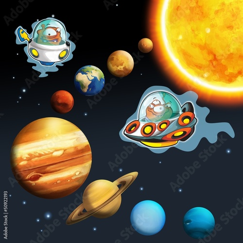 Cadres-photo bureau Cosmos The aliens theme- ufo - for kids