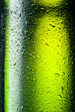 Green Bottle With Drops. Abstr...