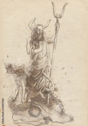 Greek Myth And Legends Full Sized Hand Drawing Hades Kaufen