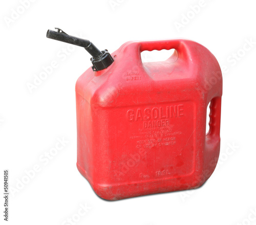 Valokuvatapetti Gasoline tank isolated on white background