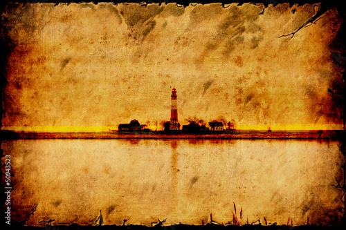 Papiers peints Affiche vintage Retroplakat - Leuchtturminsel