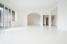 Interior Empty House, White Walls