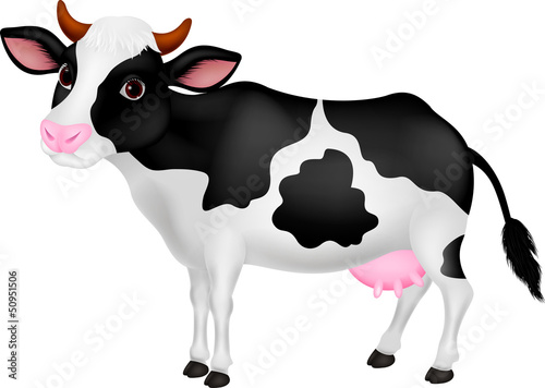 Photo sur Toile Ferme Cute cow cartoon