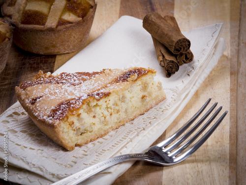 Pastiera Napoletana, dolce con ricotta Canvas Print