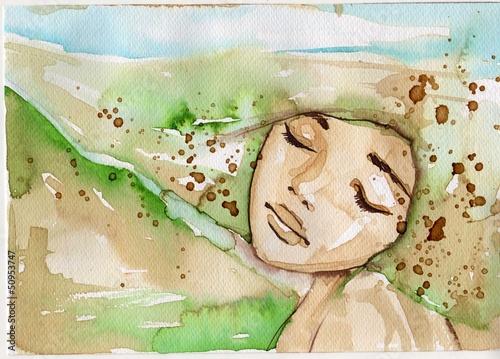 Fototapety, obrazy: zielony portret