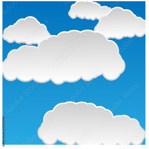 Foto op Plexiglas Hemel Speech cloud template