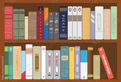 Poster Bibliotheque Books