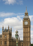 Fototapeta Big Ben - London, England, Parliament Building and Big Ben