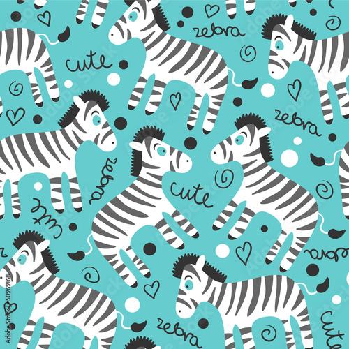 dziecinny-wzor-z-cute-zebry