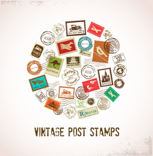 Vintage Vector Background With...