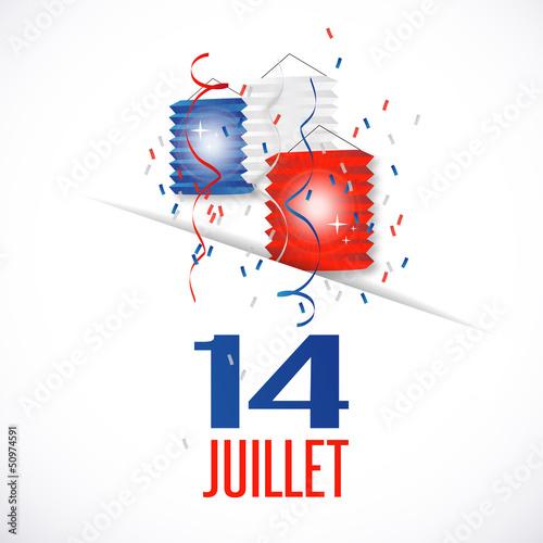 France - 14 juillet (fête nationale) Canvas-taulu