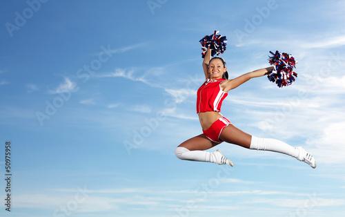 Fotomural  Young female cheerleader