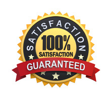 Satisfaction Guaranteed Label With Gold Badge Sign