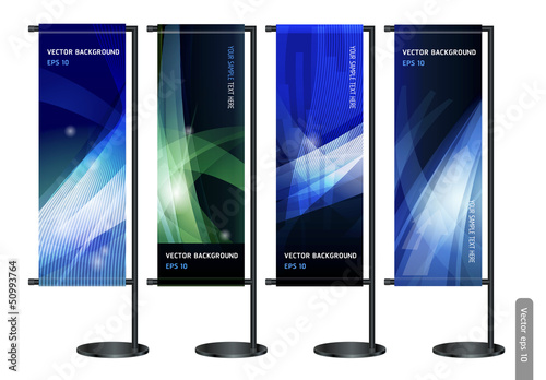 Fotografie, Obraz  Trade exhibition stand display with Abstract background. Vector