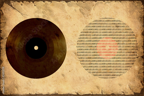 Foto op Plexiglas Vintage Poster Retroplakat - Analog zu Digital