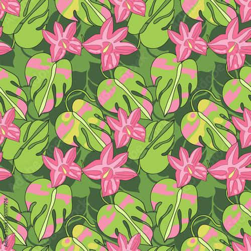 Tapeta ścienna na wymiar tropical flowers