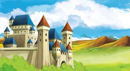 Obraz na płótnie Canvas The princesses - castles - knights and fairies