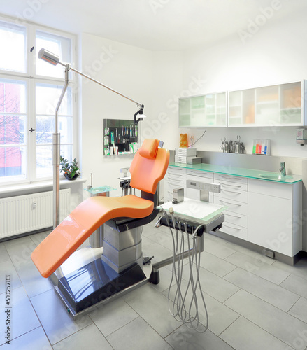 Fototapety, obrazy: Zahnarztstuhl Zahnarztpraxis