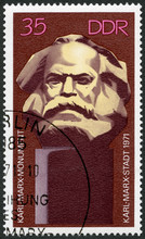 GERMANY - 1971: Shows Karl Marx Monument, Unveiling Of Karl Marx