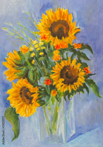 Obraz w ramie Sunflowers