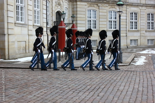 Photo  Königinnengarde Schloß Amalienborg