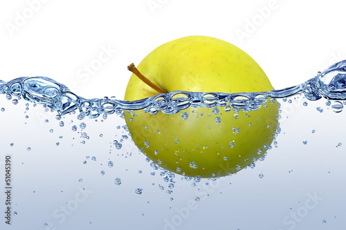 Poster Opspattend water Wasser 45
