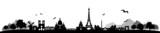 Fototapeta Fototapety Paryż - Paris Skyline Landschaft