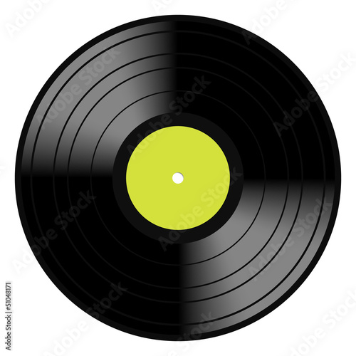 Photo Lp Vinyl Disc Vintage Record