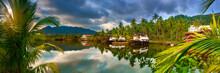 Beautiful Hotel In The Tropics. Panorama